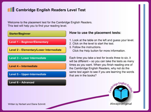 تست سطح لغات English Reader Level Test